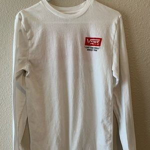 Vans White Graphic Long Sleeve